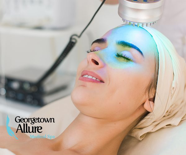 Green Light therapy face treatment