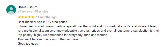 Google review from Daniel Baum