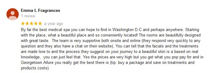 Google review from Emma L Fragrances
