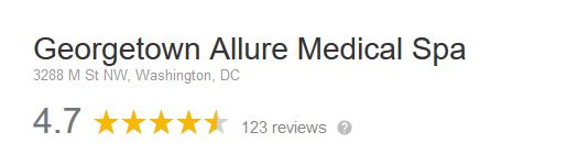 Georgetown Allure 4.7 star rating on Google reviews